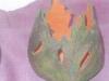 Teelicht oder Vase aus Blättern